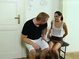 Horny girlfriend intense fuck
